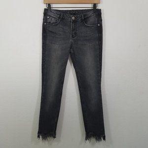 Zara Distressed Stretch Skinny Jeans Size 8